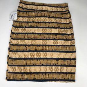 32bd7d38adfe2 LuLaRoe Skirts - NWT LuLaRoe Cassie Skirt Plus Size 2XL Brown Gold